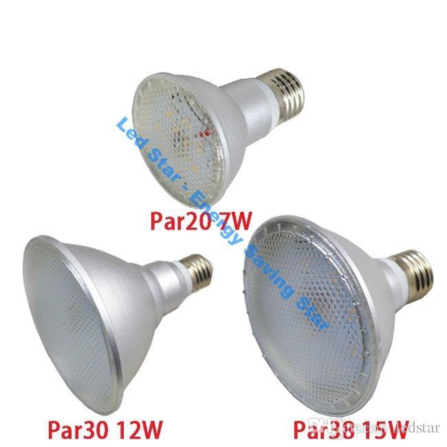 브랜드의 새로운 방수 PAR20 PAR30 PAR38 Led 조명 7W 12W 15W E27 LED 전구 빛 120 각도 높은 루멘 LED 램프 AC 100-240V