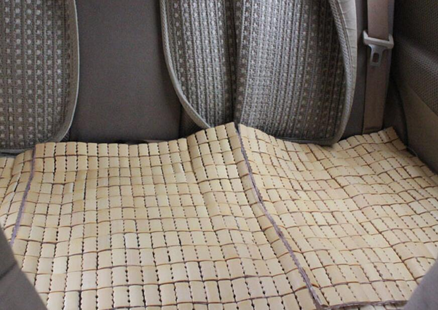 Cool And Refreshing Car Mats Mahjong Small Square Pad Piece Car Rear Seat Cushion Square Cushion Bamboo Summer Essential