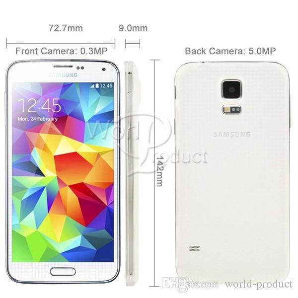 "Refurbished Samsung Galaxy S5 i9600 2GB/16GB LTE WCDMA 16MP Camera Quad Core 5.1"" Inch mobile Cell Phone Original unlocked"