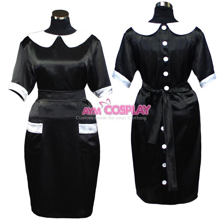 New Arrival Custom Made Sissy Maid Satin Dress Straight Fit Outfit Fancy  Cosplay Costume Uniform Clothing Cat Costume Group Costumes From Bauhaus,  ... - New Arrival Custom Made Sissy Maid Satin Dress Straight Fit Outfit
