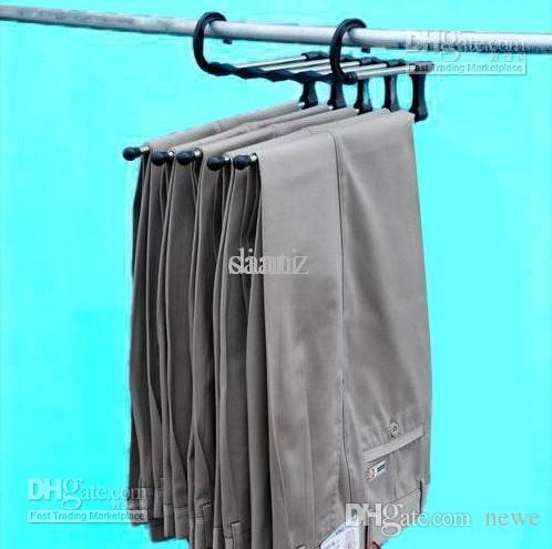 Plastic Magic Trousers Hanger/rack Multifunction Pants Closet Hanger/rack 5  In One Closet Hanger Trousers Rack Pants Hanger Online With $5.49/Piece On  ...