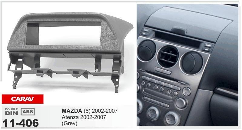 CARAV 11-406 Top Quality Radio Fascia for MAZDA (6), Atenza 2002-2007  (Grey) Stereo Fascia Dash CD Trim Installation Kit