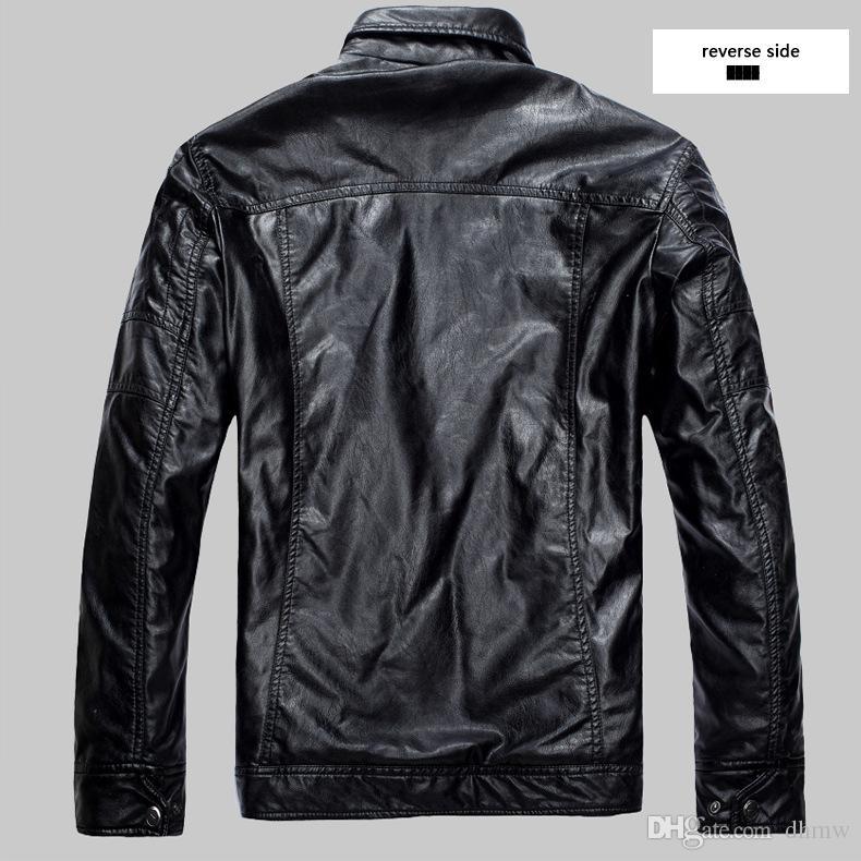 Baseball Leather Jacket Hommes Noir Blanc College Varsity Veste Jaqueta Couro Hommes PU Cuir Veste Automne Hiver Manteau