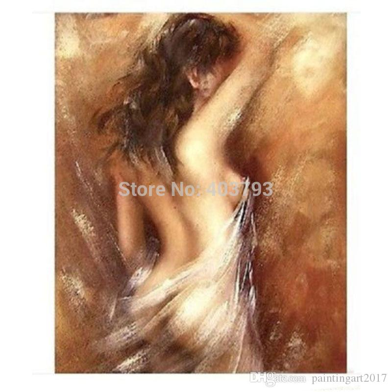 Modern Abatract Huge Wall Decoration Canvas Art Oil Painting:nude girl For Living Room Christmas Gift