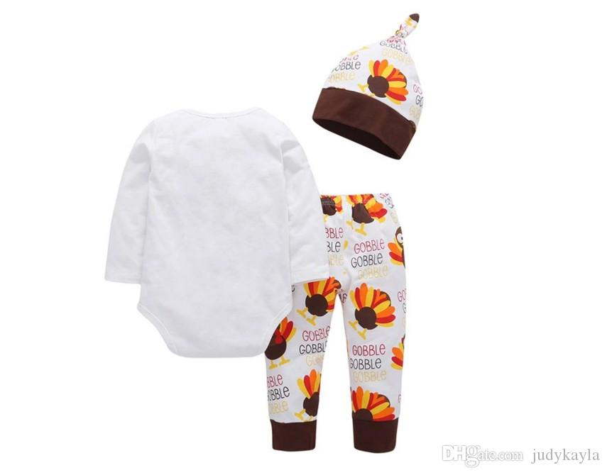 2018 New Arrivals Baby Girls Clothing Sets Spring Autumn Toddler Rompers+Pants+Hats Set Kids Little Bird Outfits Girl Suit 70-100cm