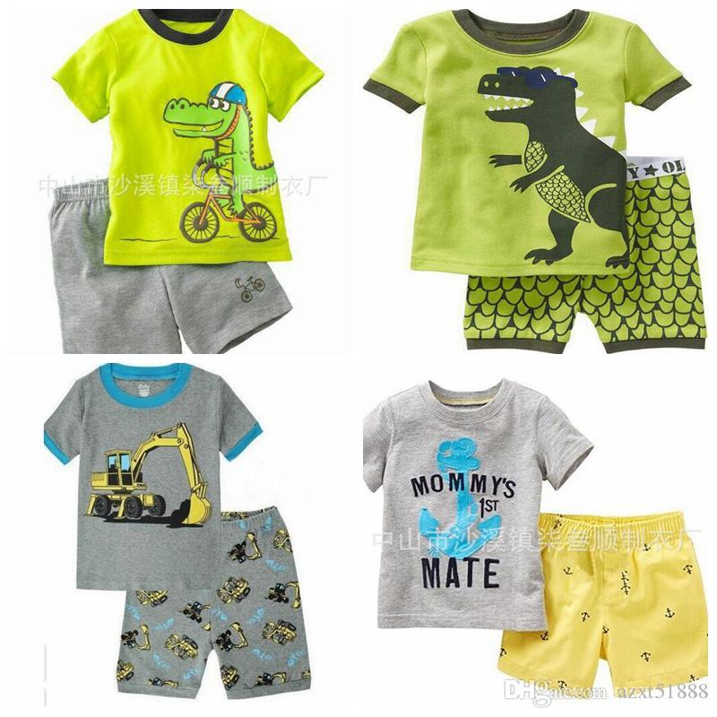 58a2c7804 Children Summer Pajamas Baby Boy s Girl s Home Clothing Sets Kids ...