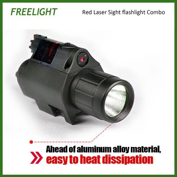 Pistola 650nm vista rossa del laser di allineamento mira portata con la torcia elettrica luminosa eccellente del LED laser rosso Combo vista fucile