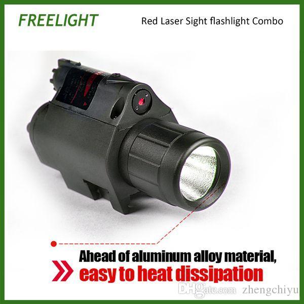 Viseur laser rouge pistolet 650nm Alignement visant la portée avec lampe de poche LED super lumineux Viseur rouge combo laser pour portée de la carabine