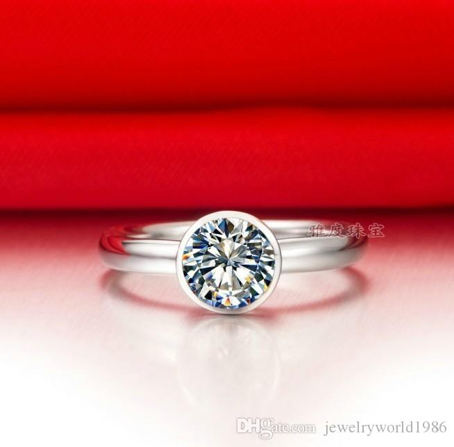 Fine Wholesale 1 ct IJ color SONA primary one karat diamond ring Women Ring