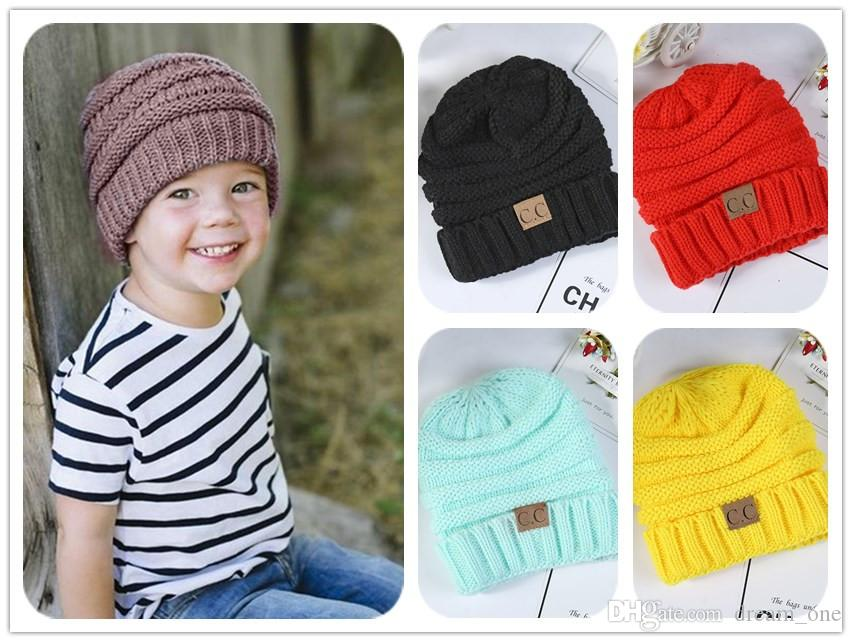 Newest Winter Knitted Woolen CC Trendy Hat Label Fedora Luxury Cable ... b568017cbed0