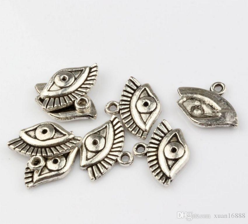 Жарко ! Мода Античное серебро Цинковый сплав смешана Charms Турции Глаза подвески ювелирных изделий DIY