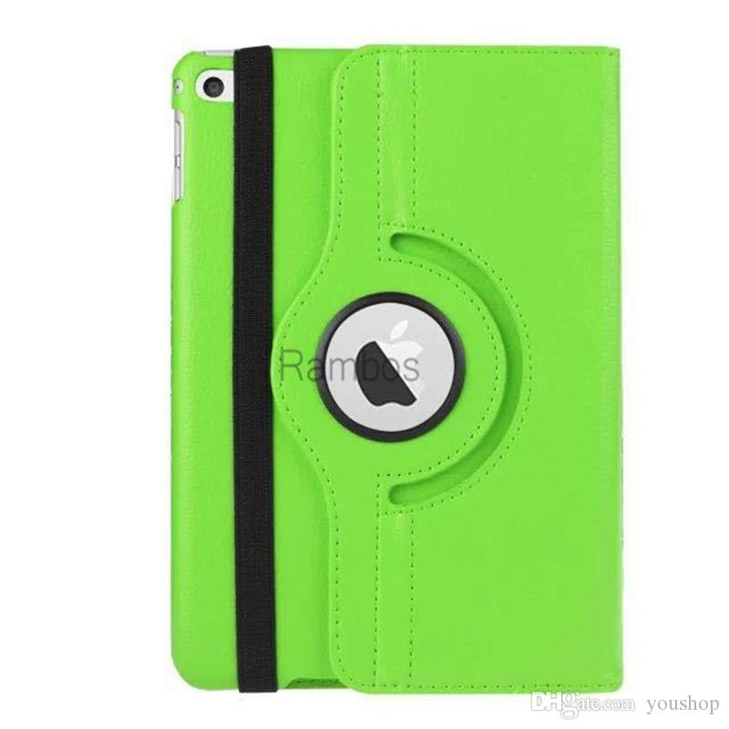 For ipad Pro 360 Rotating Magnetic PU Leather Case Smart Cover Stand for ipad Tablet PC for ipad mini 4