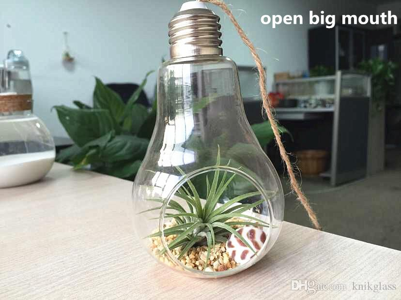 Dia 8cm Height 14cm Light Bulb Glass Plantersair Plant Holders