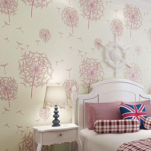 Girl Bedroom Wallpaper D Mural Wallpaper Flowers Pink Floral - Girls flower bedroom wallpaper