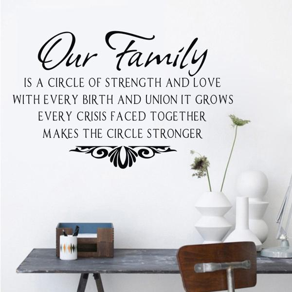 Our Family Wall Sticker Sentences Wall Decals Quotes Vinyl Wall Sticker  Quotes And Sayings Home Decor Letters For Decoration Art Decoration Stickers  For ... Part 85
