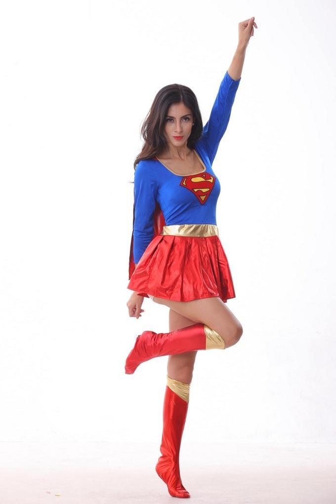 2015 new sexy superwoman costume superhero halloween costumes for women hot cosplay costumes popular halloween themes halloween costumes themes for work - Popular Halloween Themes