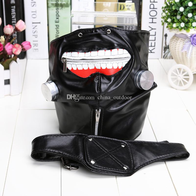 Anime Cosplay Tokyo Ghoul Kaneki Ken Mask Adjustable Zipper Masks PU Leather Cool party Mask Toy
