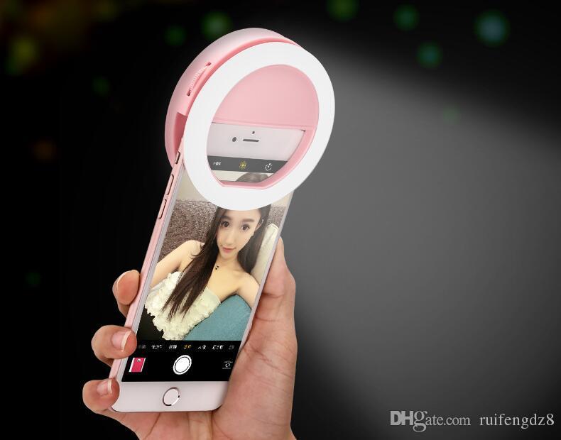 المحمولة العالمي selfie حلقة فلاش مصباح الهاتف المحمول الصمام ملء ضوء selfie الدائري فلاش إضاءة الكاميرا التصوير ل فون سامسونج