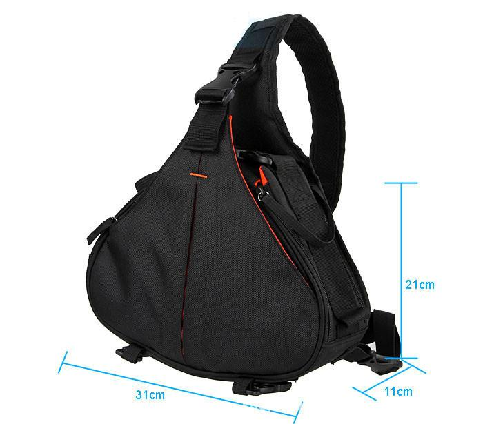 New Black Fashion Casual diagonal DSLR Camera Bag Carry Case Shoulder Messenger K1 For Nikon Sony Canon Olympus Free Shipping