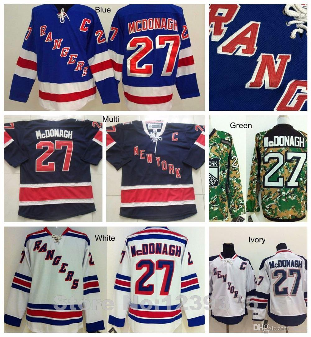 2018 2016 New, Authentic #27 New York Rangers Ryan Mcdonagh Jersey White  Blue Camo Cheap Ny Rangers Ryan Mcdonagh Hockey Jersey Stadium Ser From  Since, ...