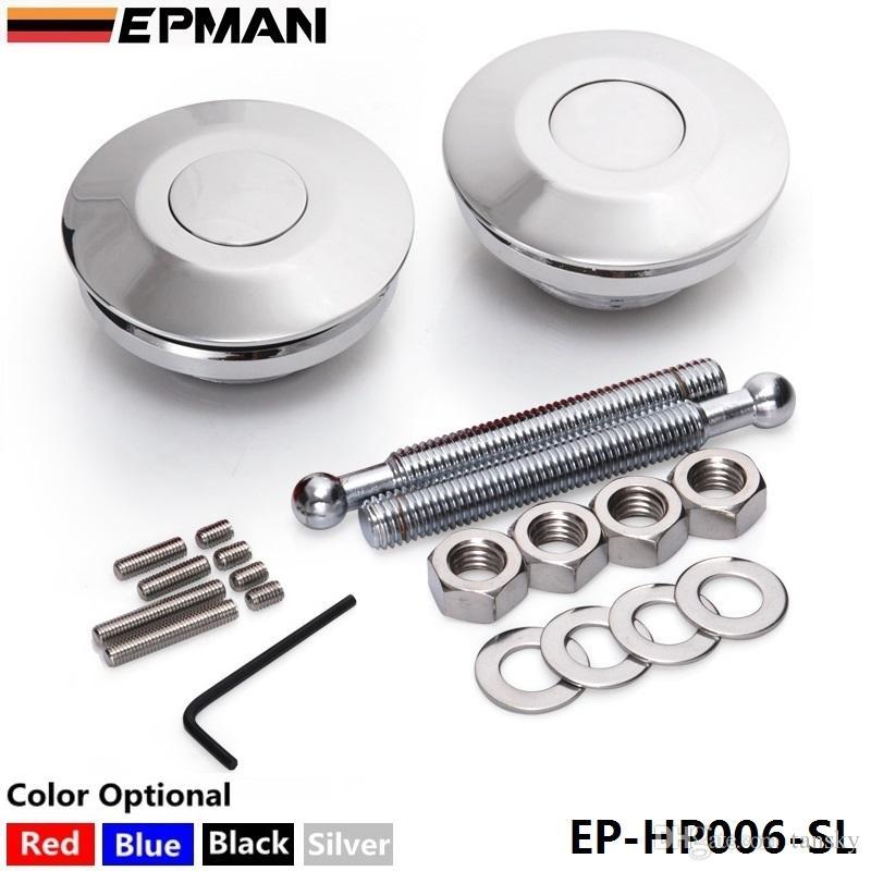 Epman High Quality Universal Push Button Billet Hood Pins Lock Clip