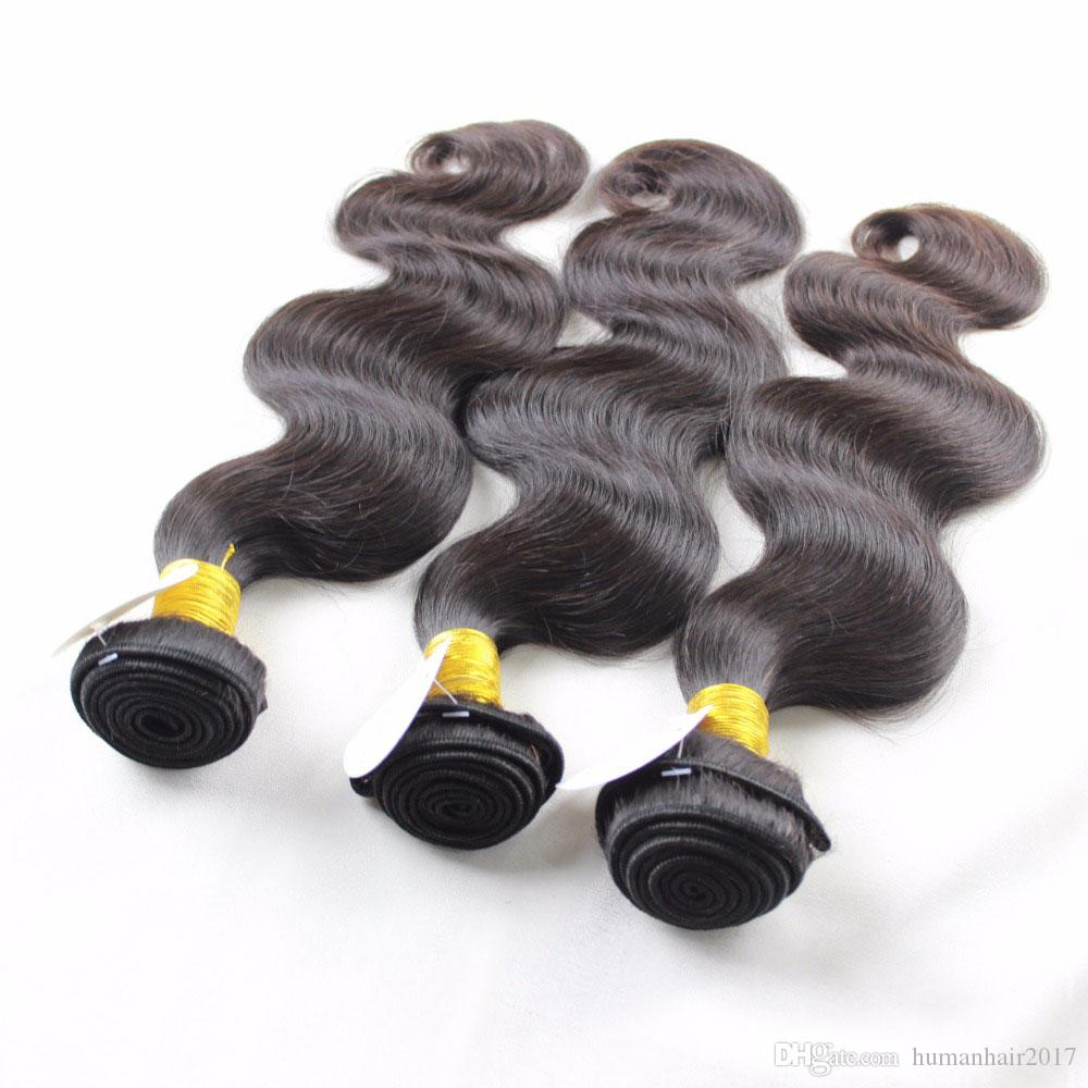 7A Grade Brazilian Virgin Hair Body Wave 3 Bundles Hair Products Brazilian Body Wave Unprocessed Human Hair Weave