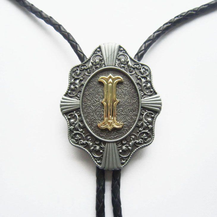 Западный галстук клипы Боло галстук для мужчин оригинальный письмо я Боло галстук косплей костюм кожаный ожерелье болоте-WT078I