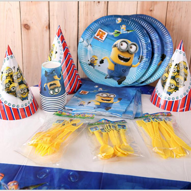2018 Christmas Children Birthday Party Decoration Minions Minion Theme Party Supplies Festival Holiday Despicable Me Cup Table Cloth Plate Knife From ...  sc 1 st  DHgate.com & 2018 Christmas Children Birthday Party Decoration Minions Minion ...