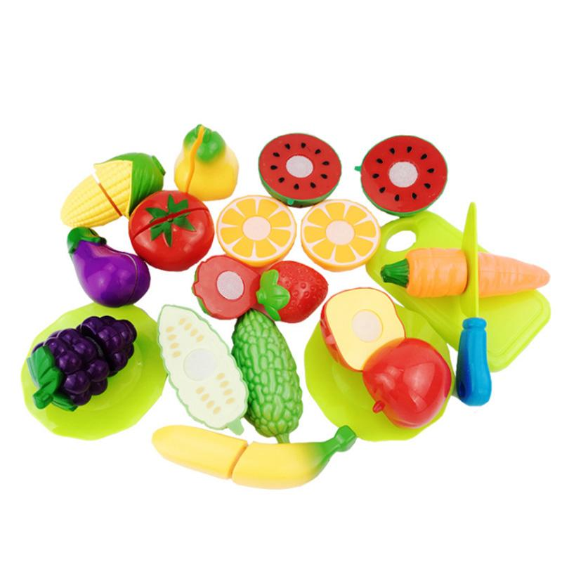 Whole New Plastic Play Toy Fruit Colourful Vegetables Cutting Kids Pretend Educational Toys Funny Cooking Kitchen Cut Kid