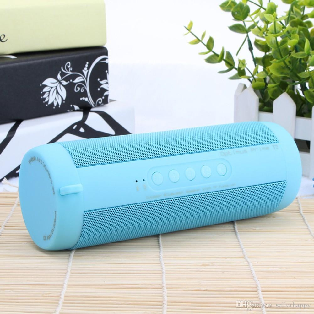 Bluetooth Speaker Super Bass T2 Outdoor Sport Waterproof Mini Portable Wireless Bicycle Loud speakers Support FM Radio Flashlight DHL