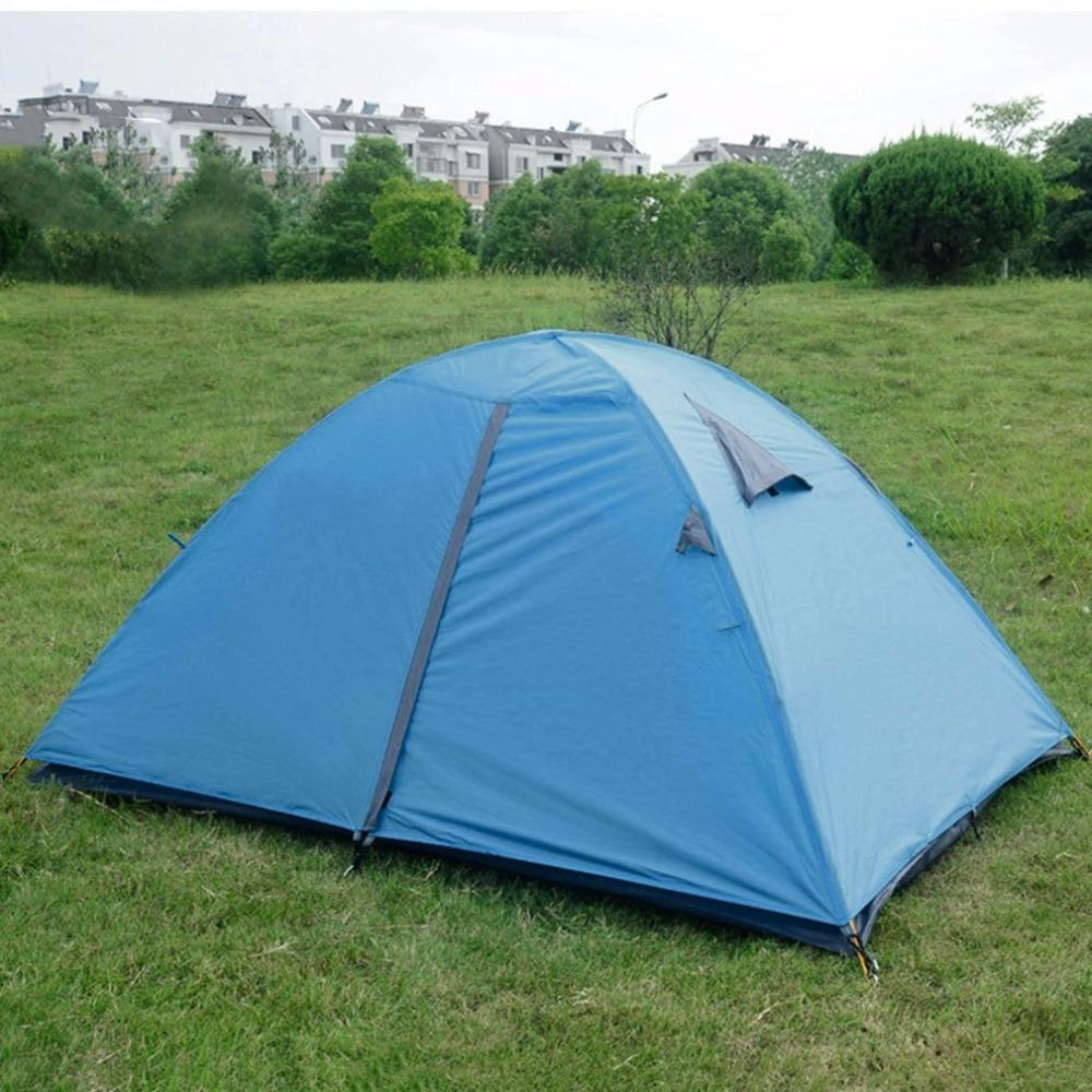 Wholesale Super Lightweight Waterproof Double Layers 2 Person Tents Outdoor C&ing Hiking 190t Polyester Portable Beach Tent Teen Shelters Puppy Shelters ... & Wholesale Super Lightweight Waterproof Double Layers 2 Person ...