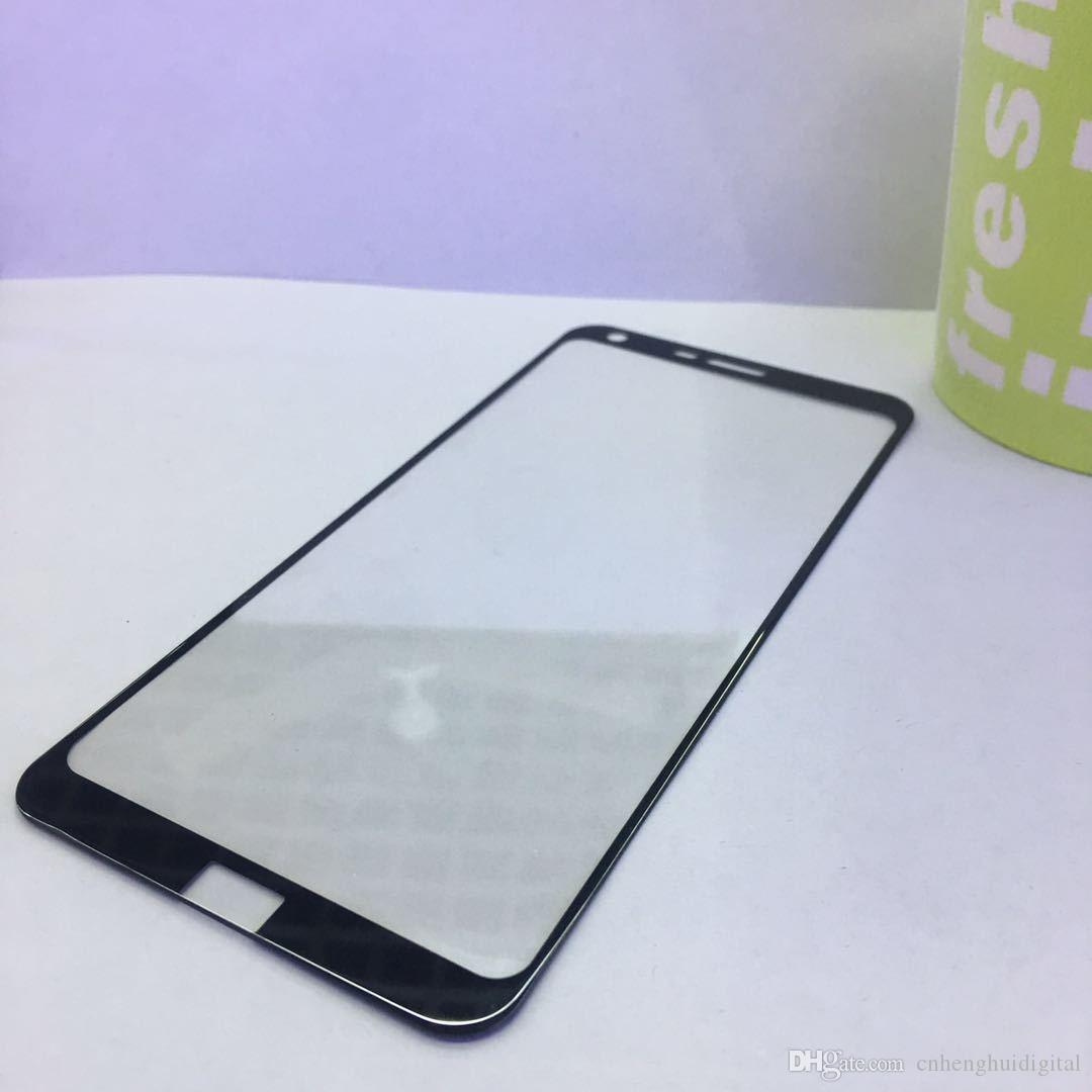 Cobertura completa de vidro temperado para lg aristo 2 x210 v9 filme protetor de tela para iphone 8 vidro temperado com pacote de papel
