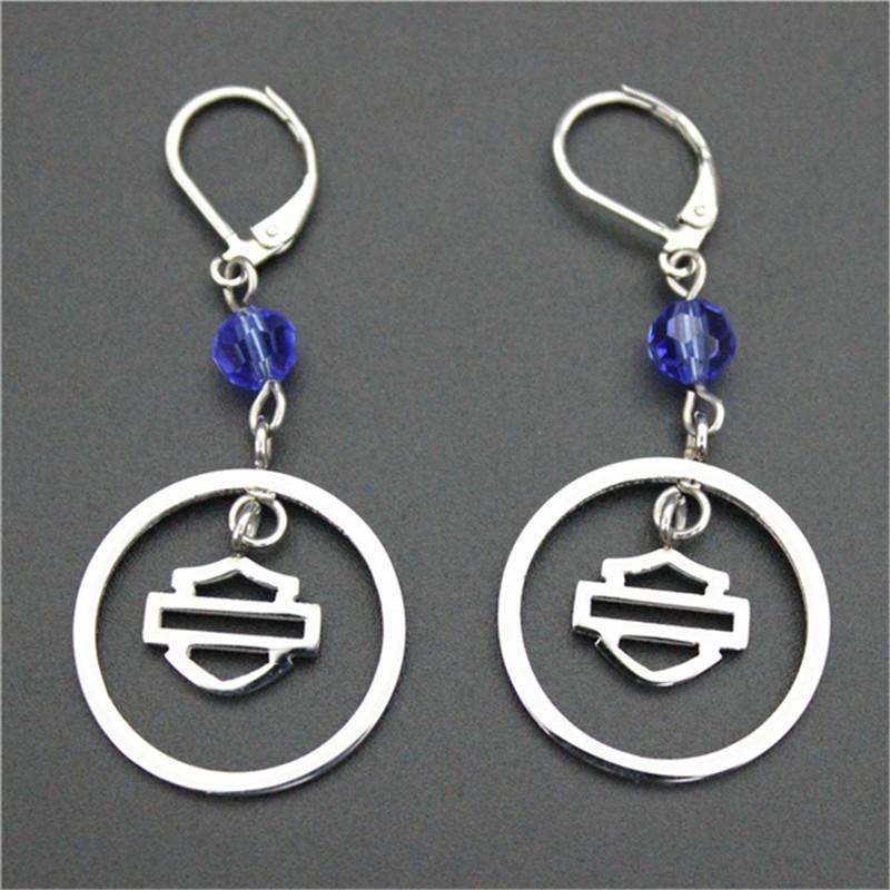 / 바이 커 스타일 뜨거운 판매 귀걸이 316l 스테인리스 패션 쥬얼리 모터 바이커 인기있는 디자인 크리스탈 귀걸이