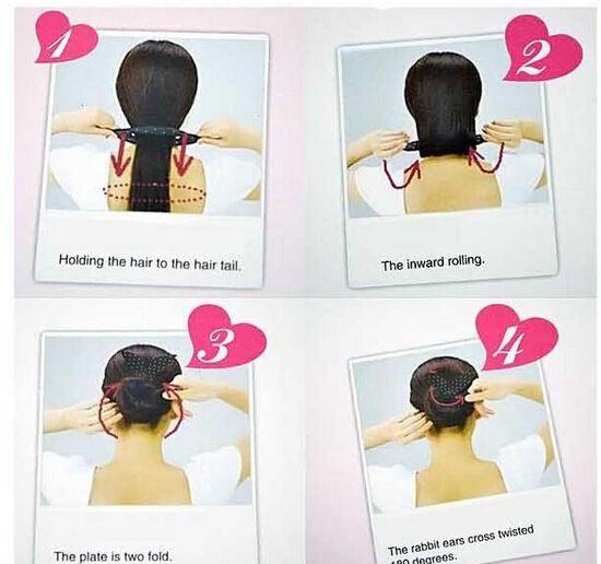 10%off Cute Print Dot Stripe Girls Metal Wire Bow Hair Accessories Bunny Ear Elastic Headband Tie All-match Women Headwear Ropes