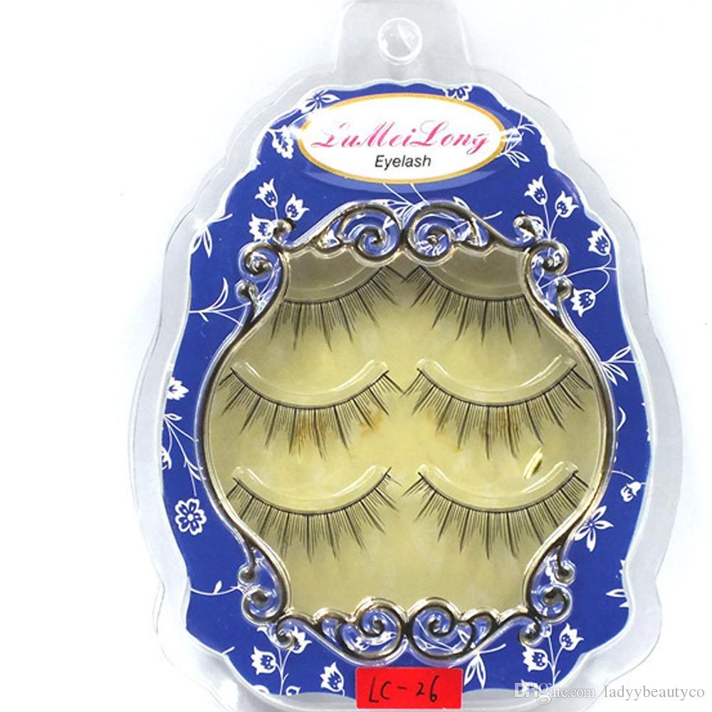 in a tray sharpen tip eyelashes sharpened by hand handmade cross of false eyelashes