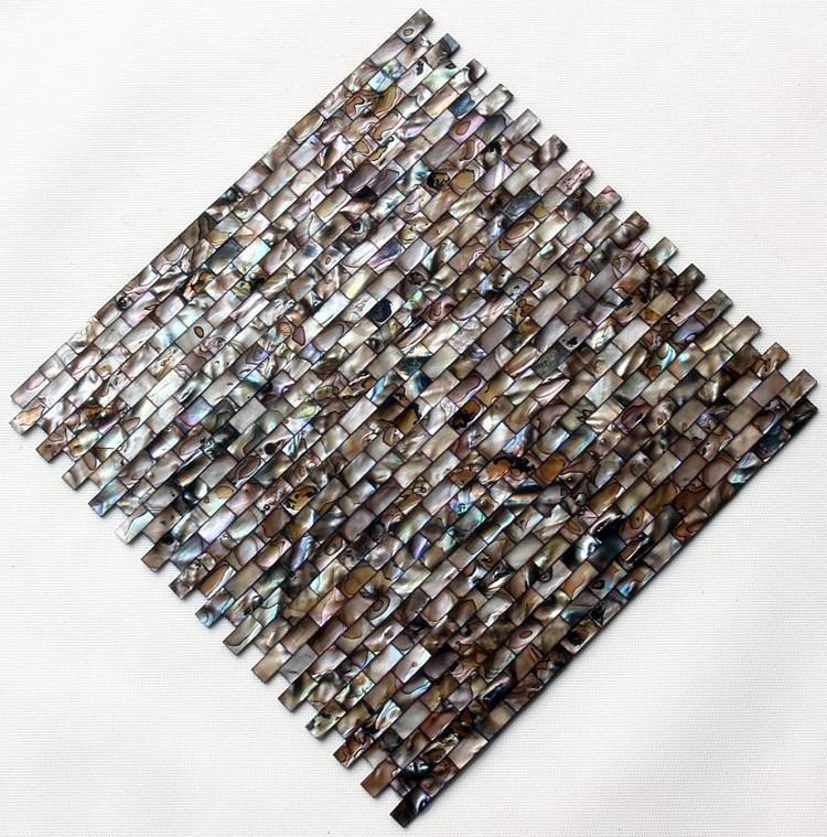 Tiras de café tira pérola mosaico azulejos de madrepérola shell mosaico telhas de decoração para casa sala de estar cozinha voltar splash shell telhas FedEx