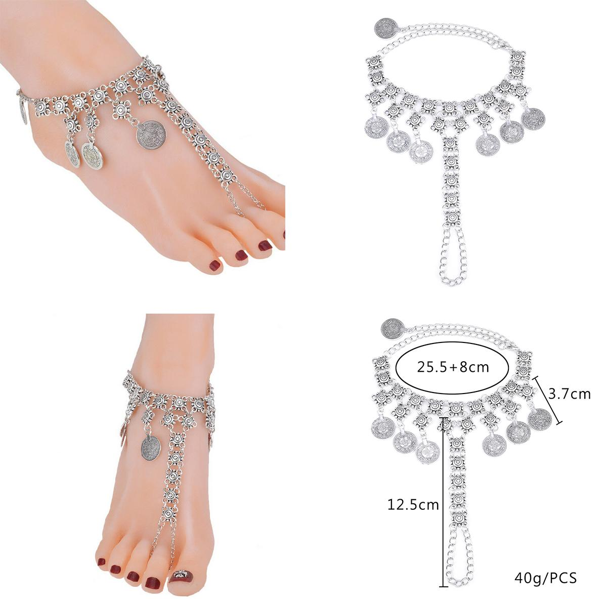anklets anklet antique female indian old pin silver vintage handmade jewelry cz look tribal