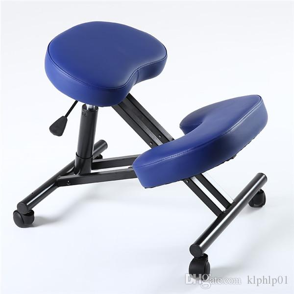 Ergonomic Kneeling Chair Adjustable Stool With Caster &Thick Comfortable Cushion Knee Office Chair For Home and Office Posture Support