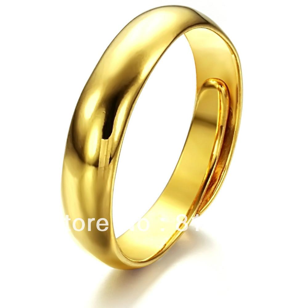 yellow classic plain wedding bridal wear gold ring rings bands anniversary band jewelry
