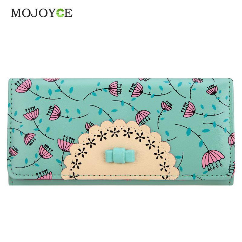 wholesale fashion flora printing wallet women luxury brand folder