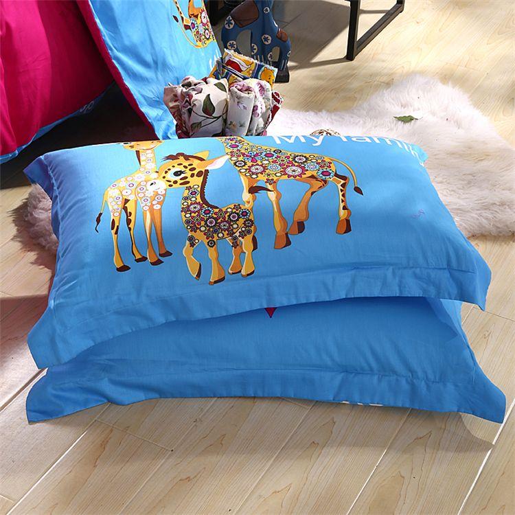 4/3 Stück 100% Baumwolle Kinder Eule Jungen / Mädchen Bettwäsche liefert 3d Bettwäsche mit Bettbezug / Bettlaken / Kissenbezüge King / Twin / Queen Size