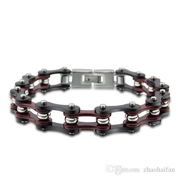 Longueur de bijoux ZHF: largeur de 53mm: 62mm poids 44.2g 316 bracelet en acier titane bracelet hommes bracelet