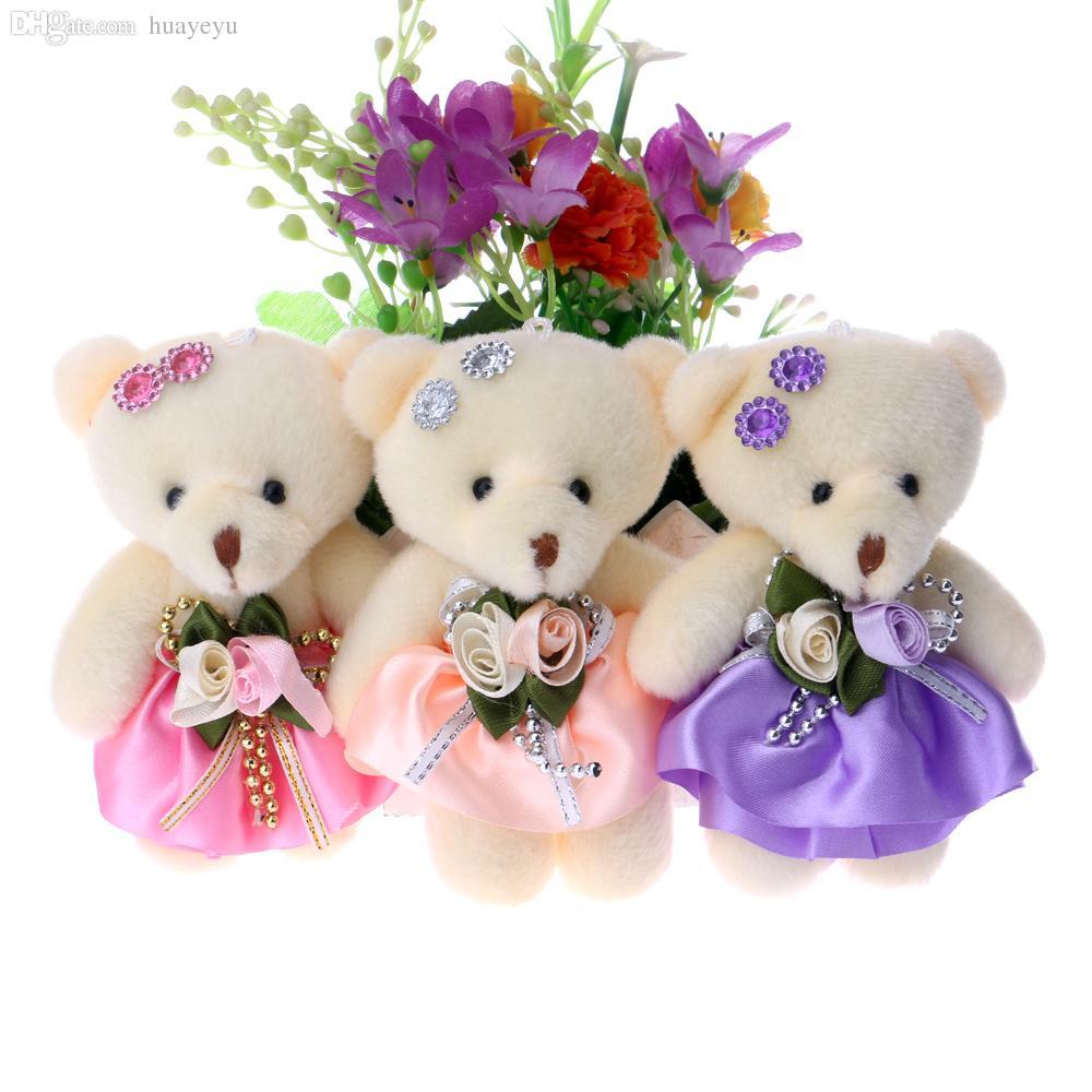 2018 wholesale diamonds baby girls bear flower bouquets accessory 2018 wholesale diamonds baby girls bear flower bouquets accessory teddy bears plush toys mini model bear 12cm from huayeyu 5149 dhgate izmirmasajfo Choice Image
