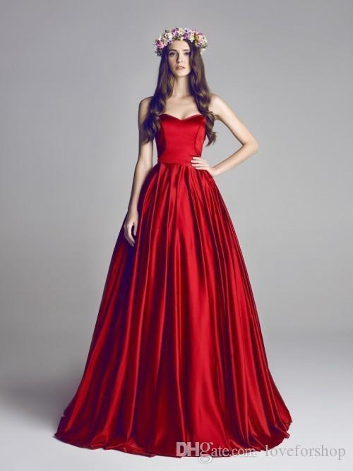 Red Blood Sweetheart Amazing Prom Dresses A Line Backless ...