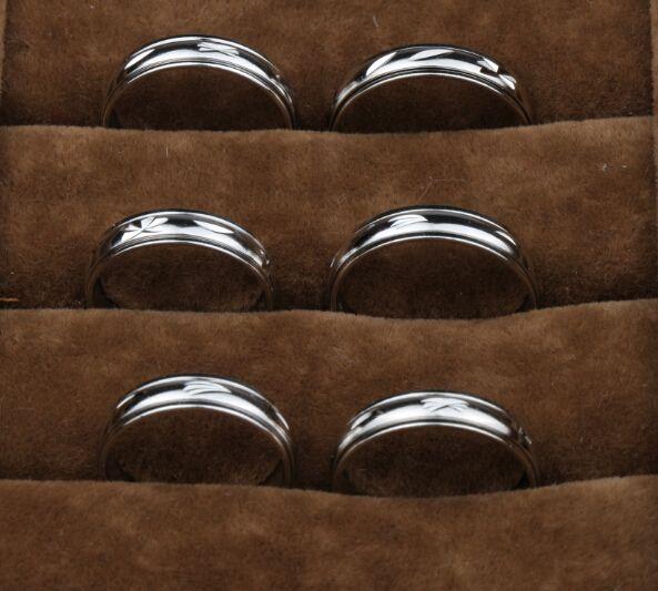 / 믹스 크기 5mm 와이드 금속 컬러 스핀 스피닝 아크 구리 수송 링 링 밴드 링