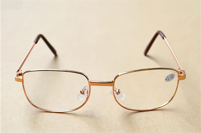 878df3be438 Silver Gold Frame Classic Unisex Cheap Reading Glasses Men Women Metal  Frame Reading Glasses Diopter +1.00 +4.00 Reading Glasses Sunglasses Strong  Reading ...