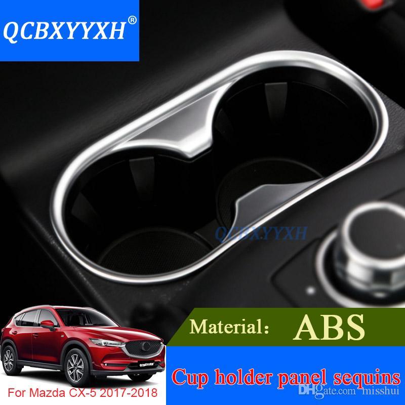Mazda 2th CX-5 QCBXYYXH 2017 2018 ABS Iç Dekorasyon Çıkartmaları Oto Çerçeve Araba Styling Bardak Tutucu Paneli Gears Sequins