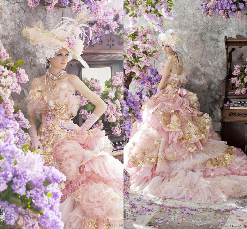 Stella de libero 2015 princess wedding dresses luxury ball for Www dhgate com wedding dresses