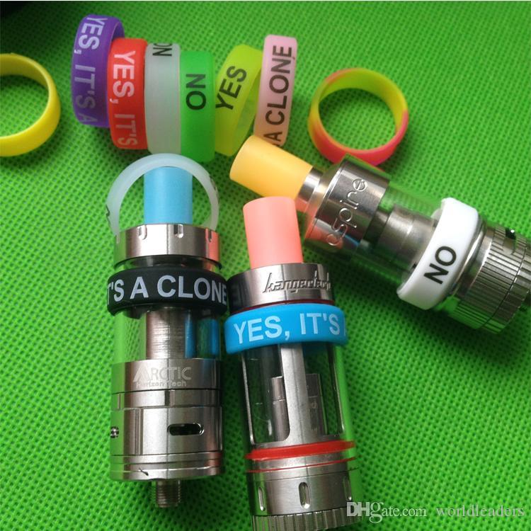 E sigara için silikon halka mod buhar silikon bant vape yüzük çeşitli renk kaymaz kaymaz silikon halka alt mini / sub nano alt tankı