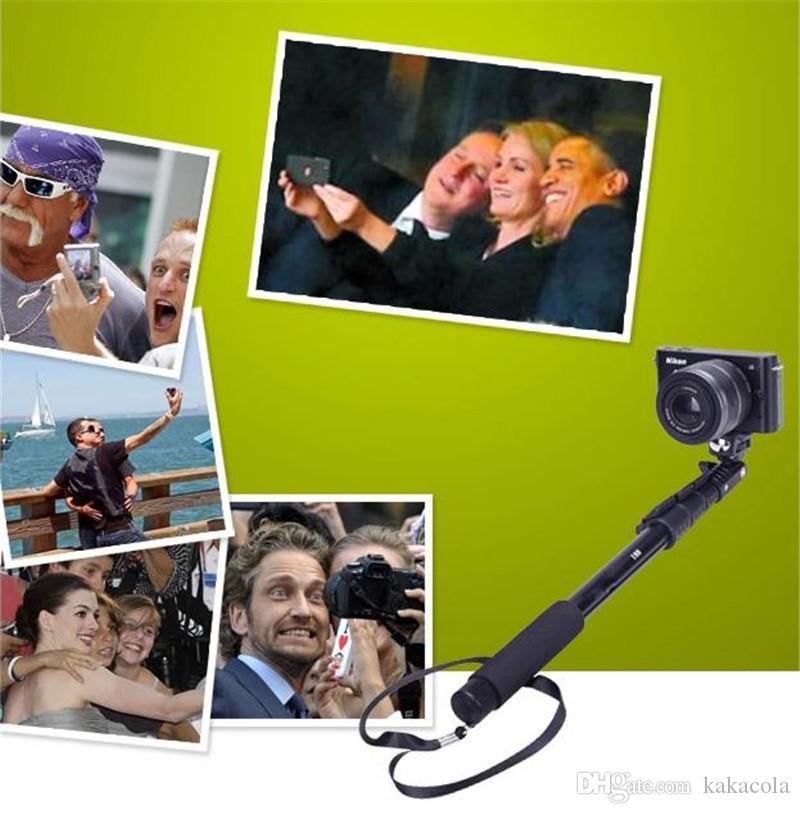 C188 Chowany ręczny monopod z uchwytem do klipów telefonicznych do kamery kieszonkowej i iPhone Samsung HTC ... itd Telefony komórkowe